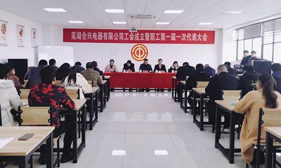 热烈祝贺芜湖合兴电器工会成立